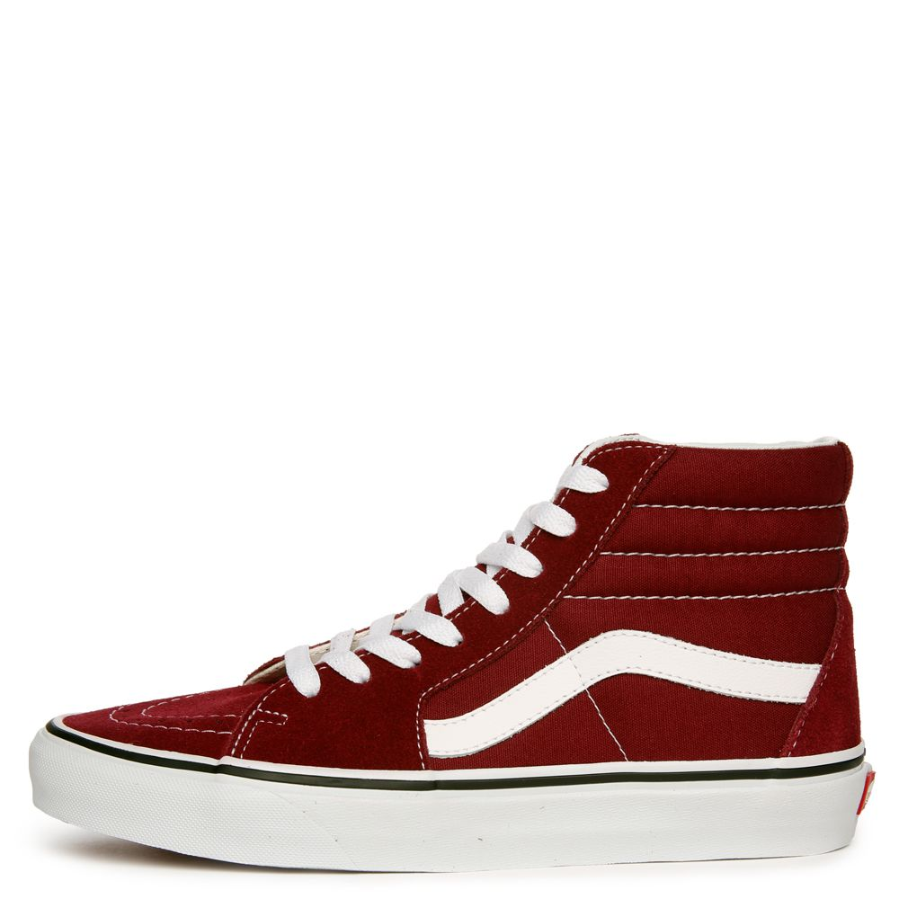 ea37245193 WOMEN S VANS SK8-HI BURGUNDY TRUE WHITE