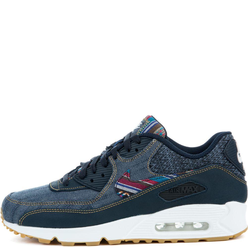 Nike Air Max 90 Premium BlueBrown Trainers 700155 404