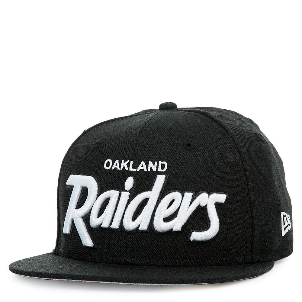 9c22e067 Oakland Raiders Black Script Cap BLACK