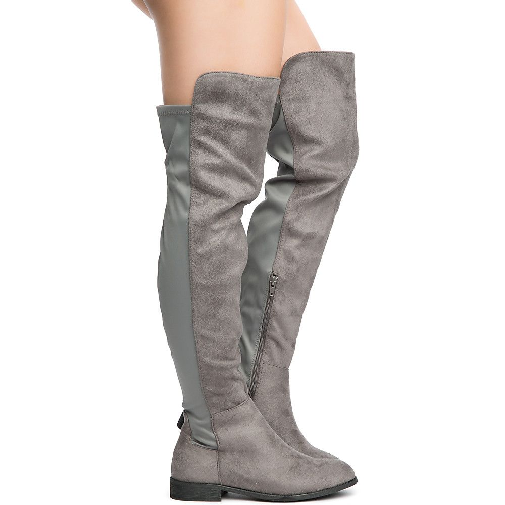 e40e9207b35 Women s Oksana-132 Flat Boot Dark Grey