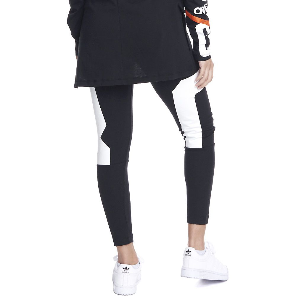 Women's Basketball Leggings BLACK/WHITE