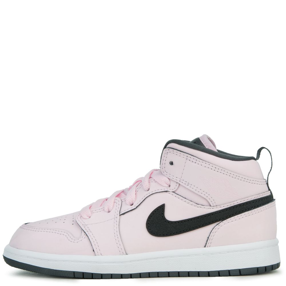 fbc9306f39a (PS) AIR JORDAN1 MID PINK FOAM  BLACK-WHITE-ANTHRACITE