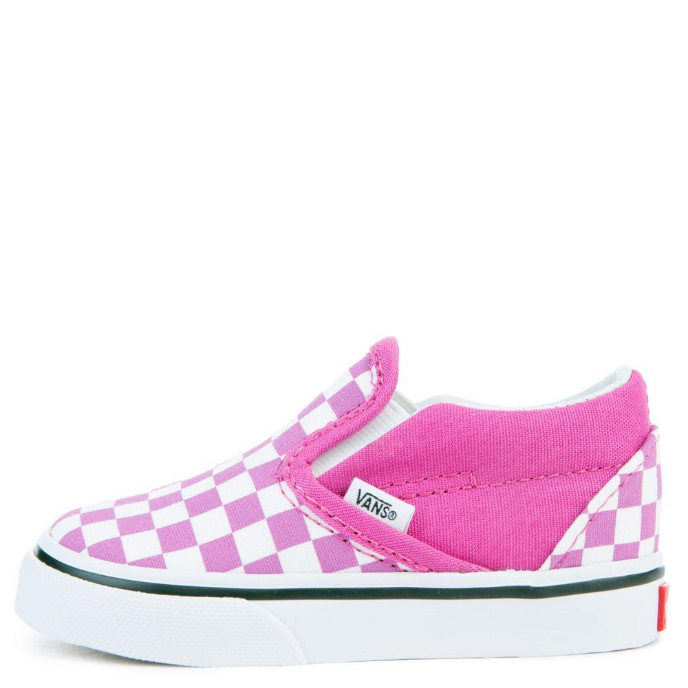 d01d74430ea9 toddler vans classic slip on raspberry rose/true white checkerboard
