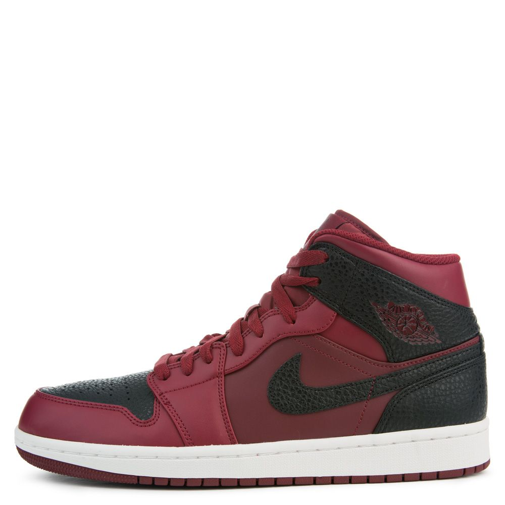 Air Jordan 1 Mid TEAM RED BLACK SUMMIT WHITE 8411d0076