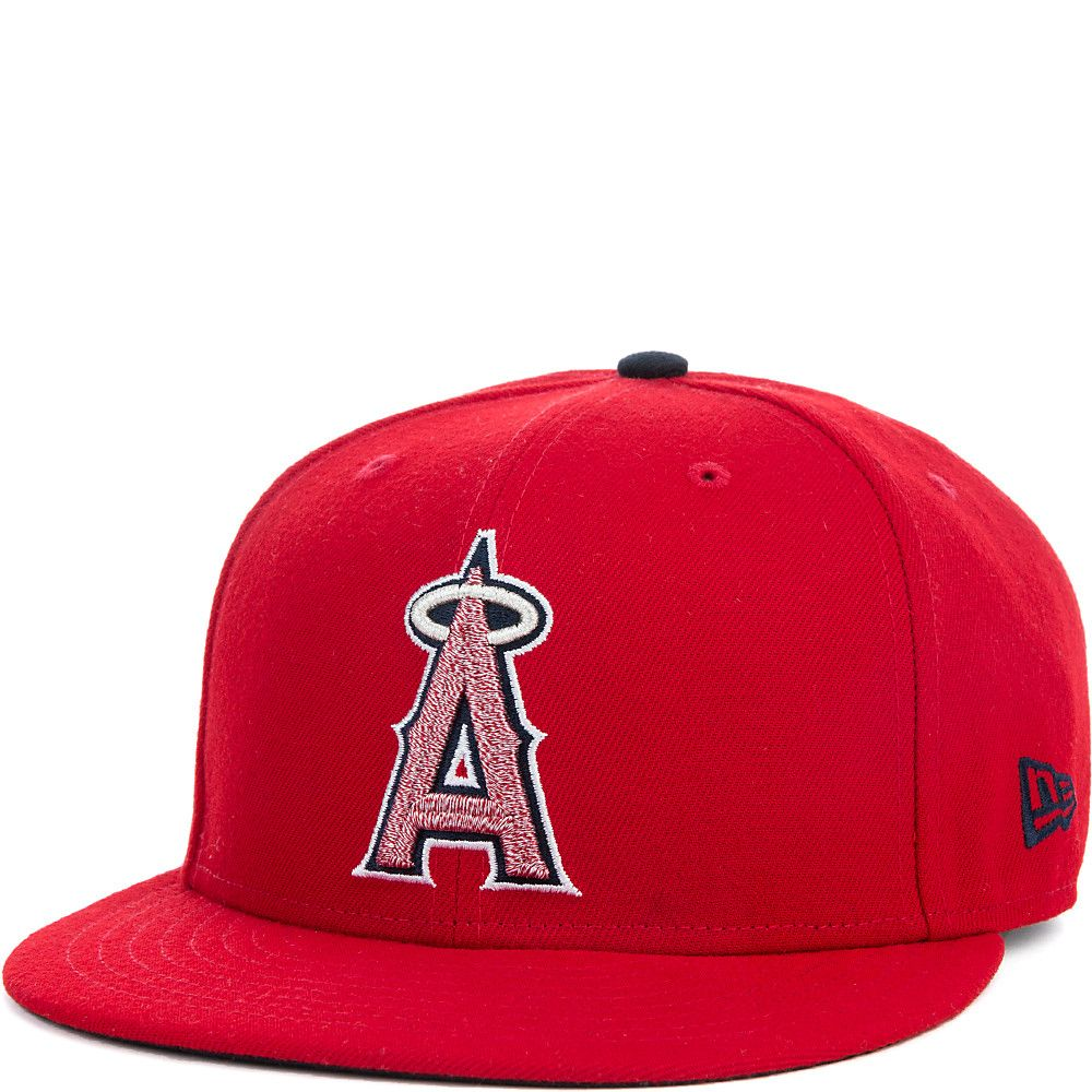 730752fdbfc Team Twisted Snap Los Angeles Angels of Anaheim Hat Red