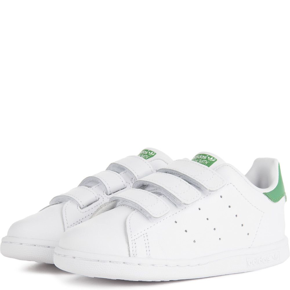 brand new 34cca 96f7b Toddler's Stan Smith Velcro Sneaker White/Green
