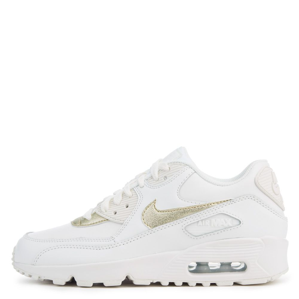 1eec220111 Air Max 90 Leather SUMMIT WHITE/MTLC GOLD STAR