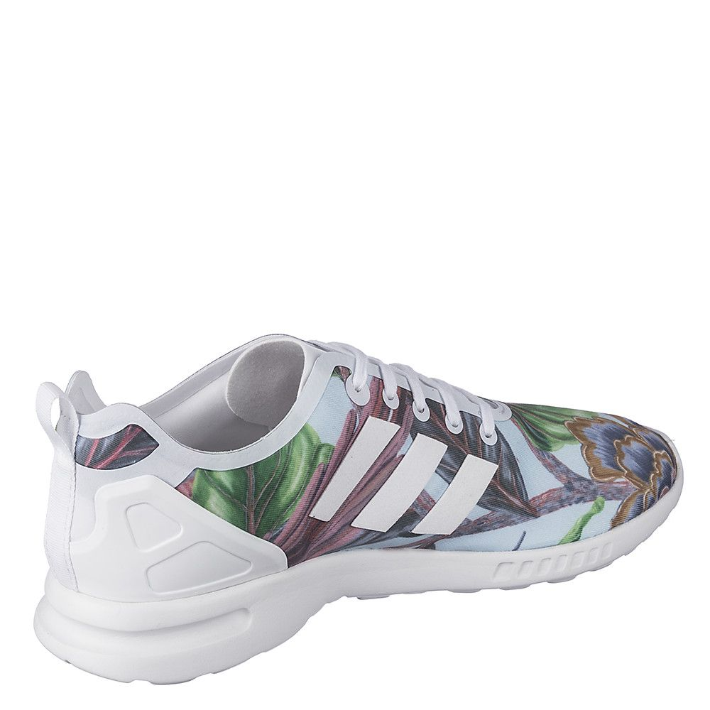 895c49e03 Women s Athletic Running Sneaker ZX Flux Smooth Floral White