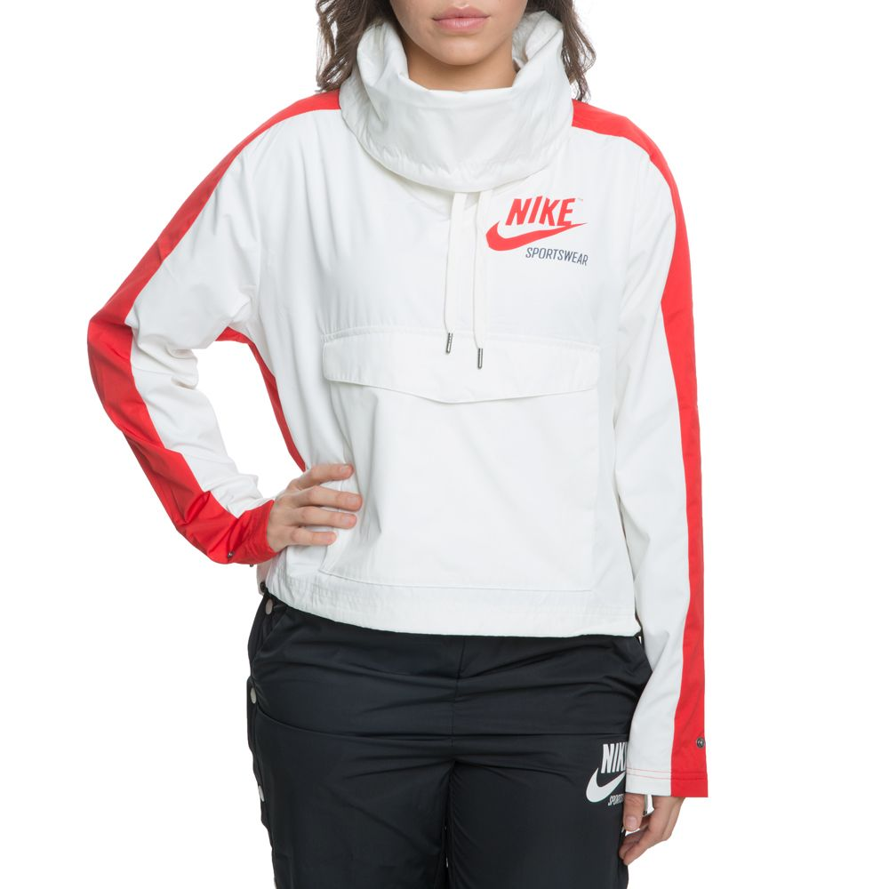 a41485e0c45c women s nike archive pullover jacket sail university red