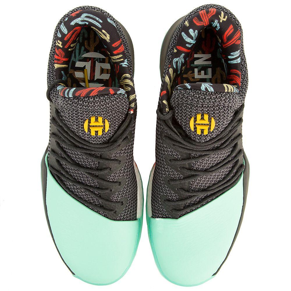 6529e729385 Men s Harden Vol. 1 Basketball Sneaker CBLACK EASGRN ENERGY