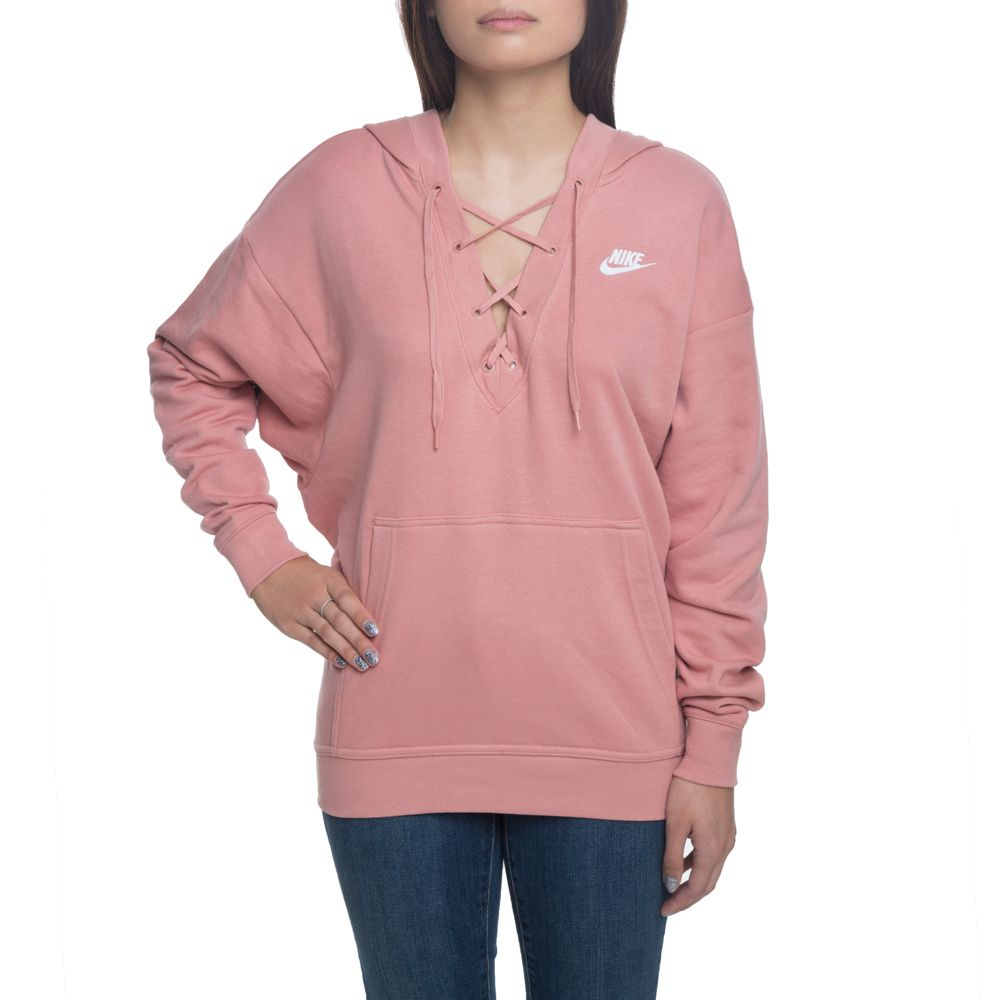 a860747b7147 nsw club hoodie laceup rust pink rust pink rust pink white