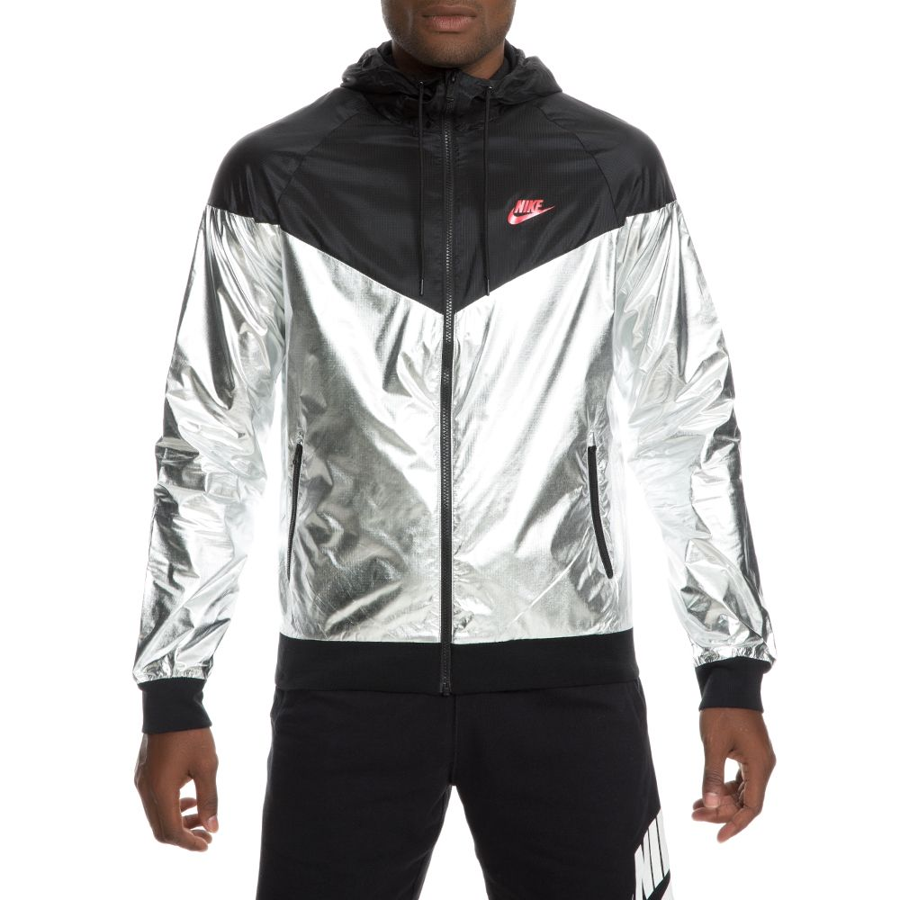 3cd5c4de96 men s nike windrunner jacket metallic silver black university red