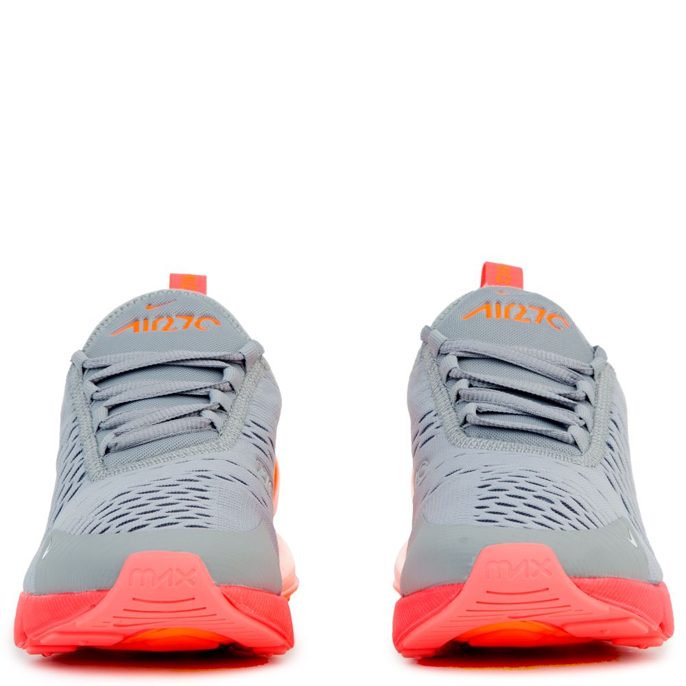 the latest d756a 66af1 NIKE AIR MAX 270 (GS) WOLF GREY HOT PUNCH-TOTAL ORANGE