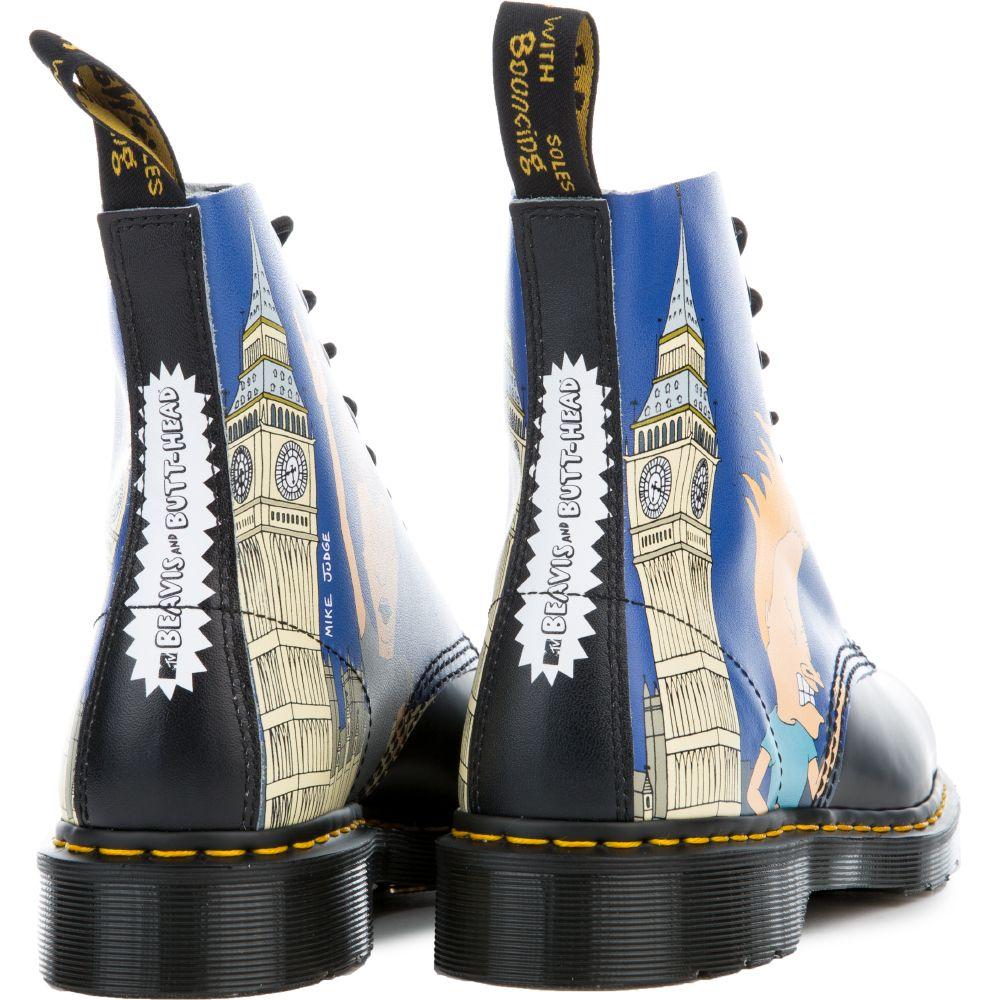 88e295ac8a Unisex Beavis & Butt-Head Pascal Black + Blue Boots BLACK/BLUE PRINT.  $150.00. In stock