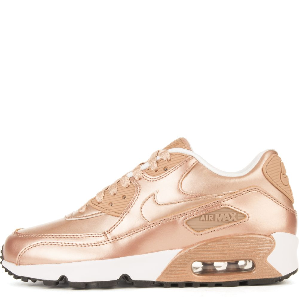 4092a6a63578 AIR MAX 90 SE LTR (GS) Rose Gold White Black
