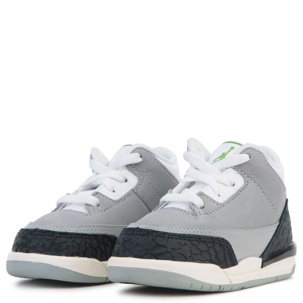 15803461be80 ... wholesale td air jordan retro 3 lt smoke grey chlorophyll black white  51c4a a925f