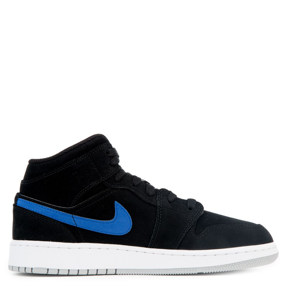 half off db776 34ac0 AIR JORDAN 1 MID (BG) BLACK UNIVERSITY RED-HYPER ROYAL-WHITE
