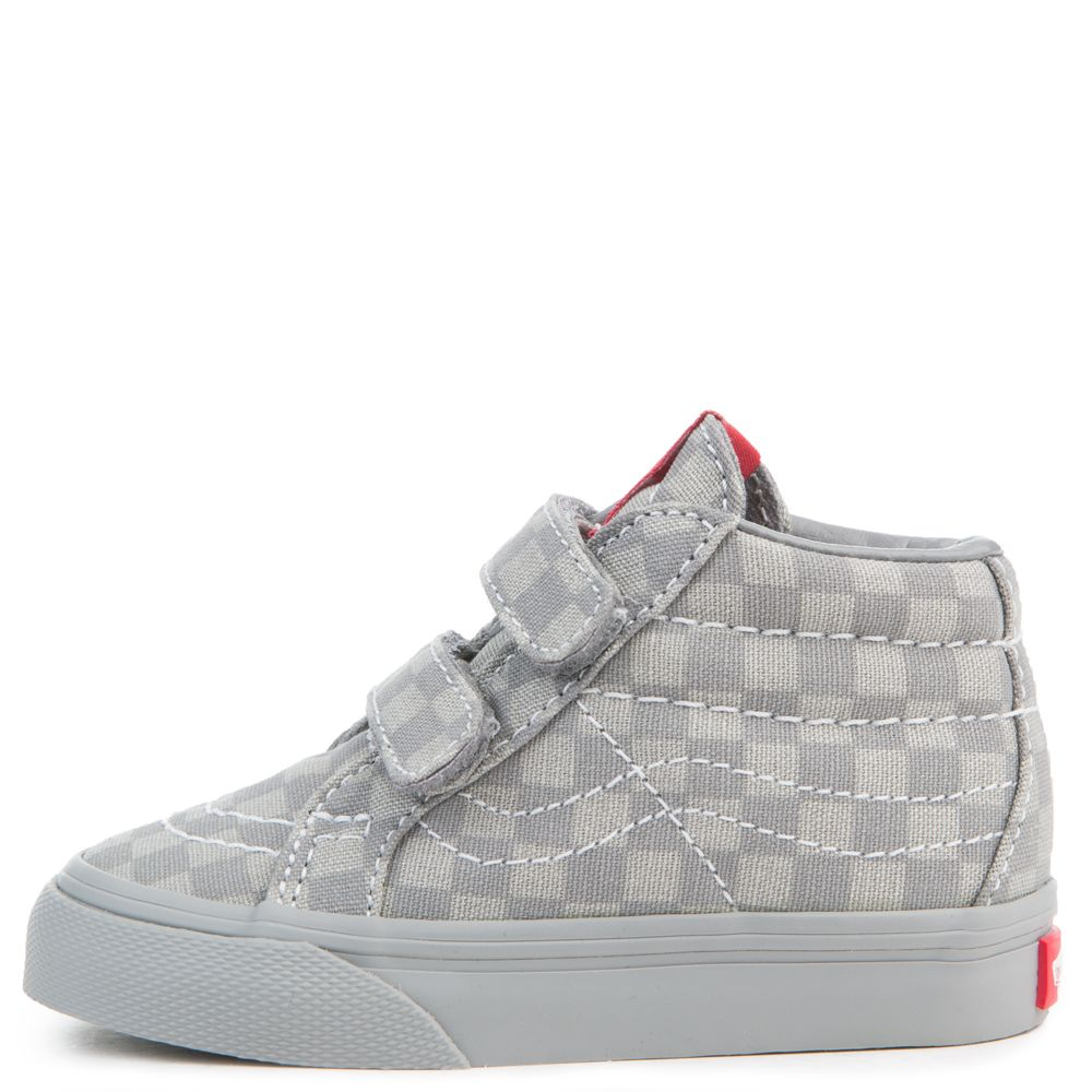 2ecb00cac06d toddler vans sk8-mid reissue v mono checkerboard gray
