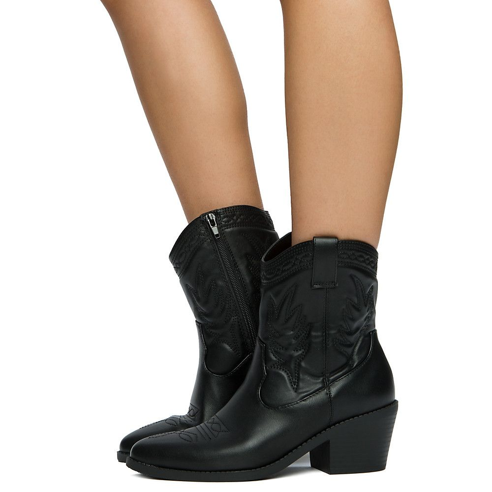 3c0da715a5a99 Women's Picotee-S Ankle Boots BLACK