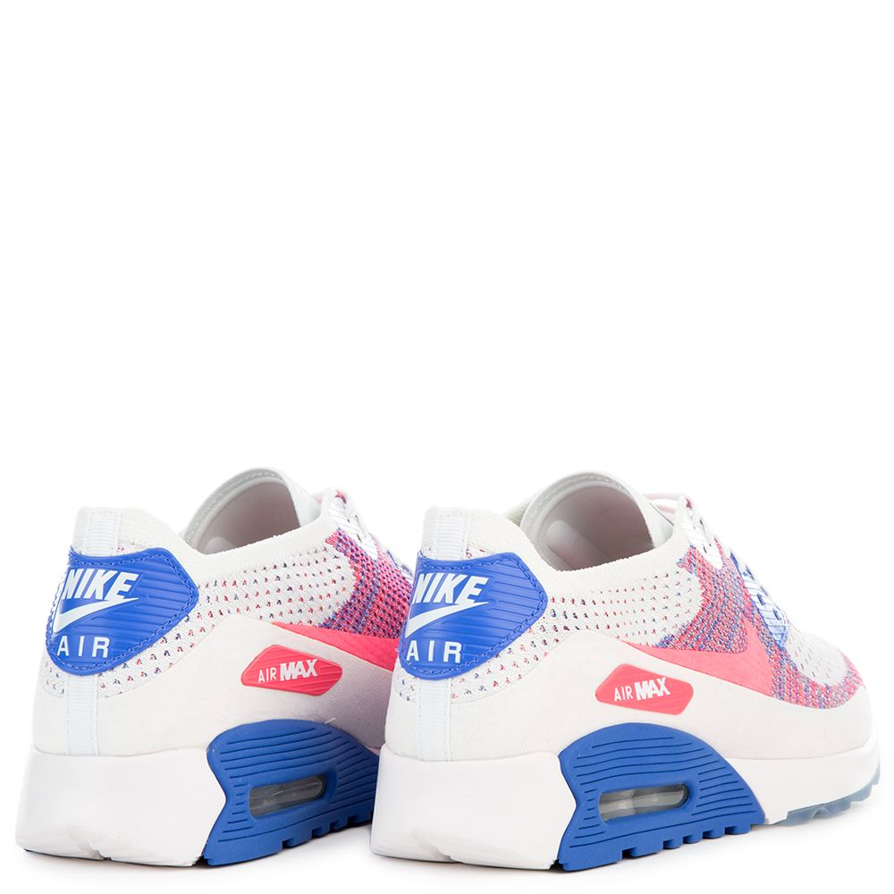 9d3e1af643a1 W AIR MAX 90 ULTRA 2.0 FLYKNIT WHITE RACER PINK-MEDIUM BLUE
