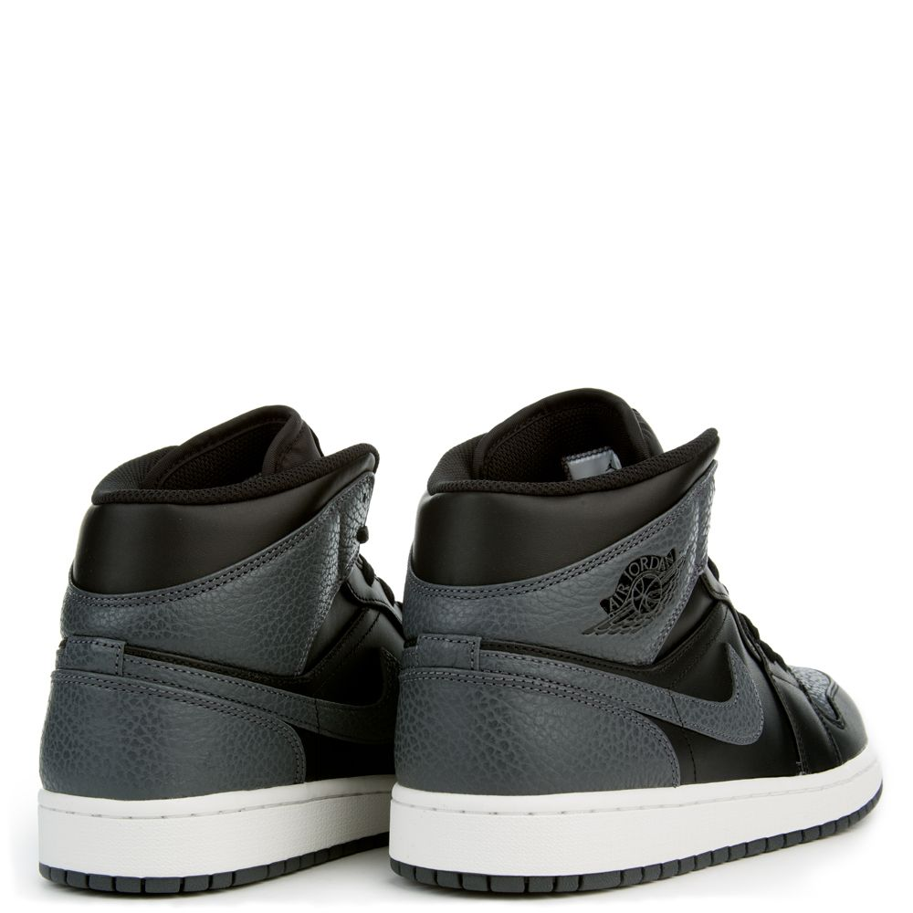 31e6a509a98 Air Jordan 1 Mid BLACK DARK GREY SUMMIT WHITE