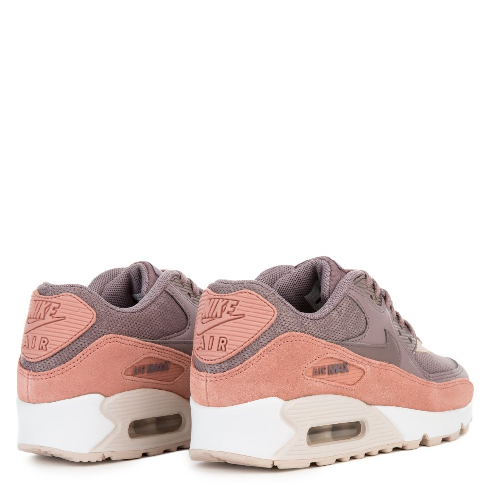 new product 1b7ac d04b9 WOMEN  S NIKE AIR MAX 90 RED STARDUST TAUPE GREY-SILT RED-WHITE