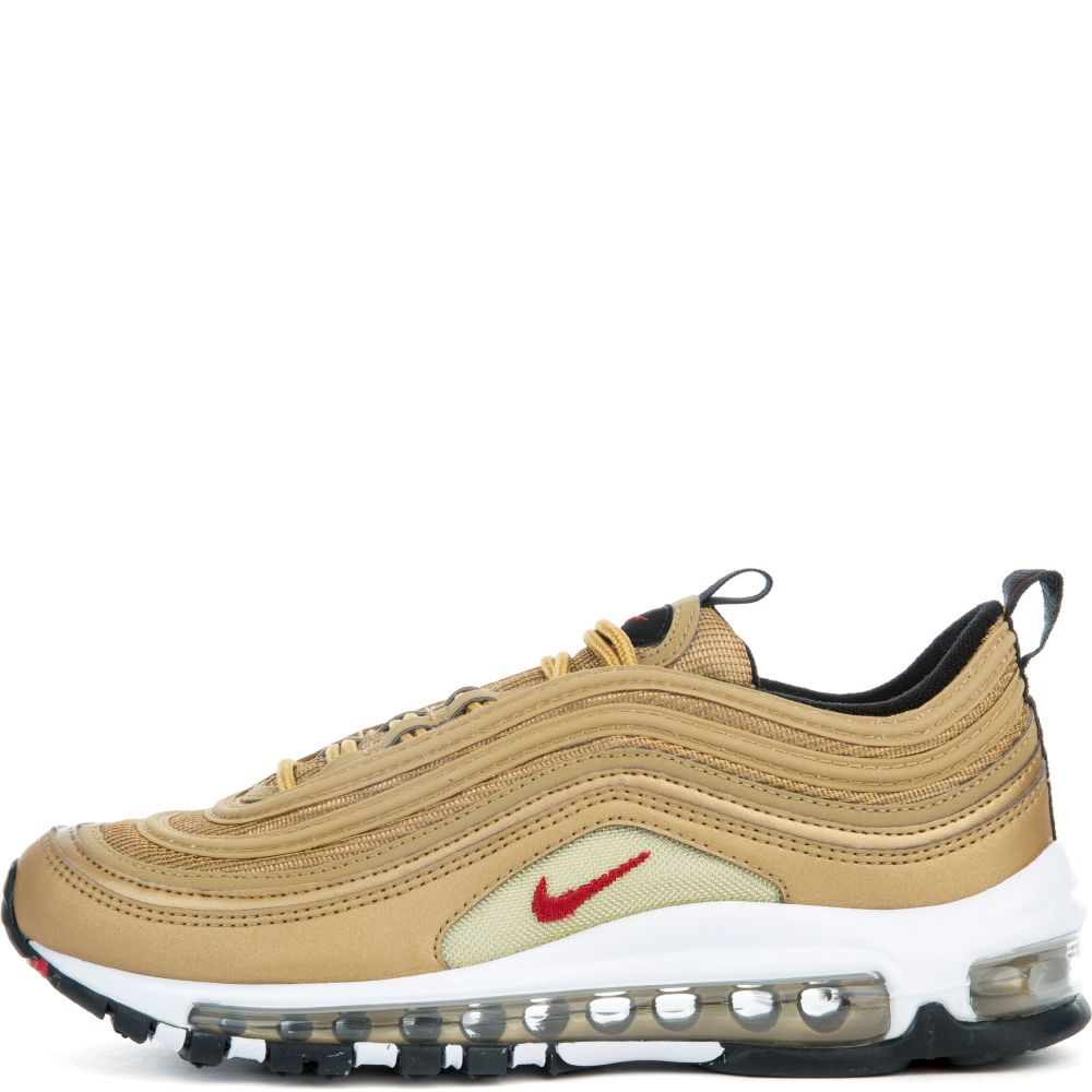 2fb1b39bcddb0d boys' nike air max 97 qs (gs) running shoe metallic gold/varsity red ...