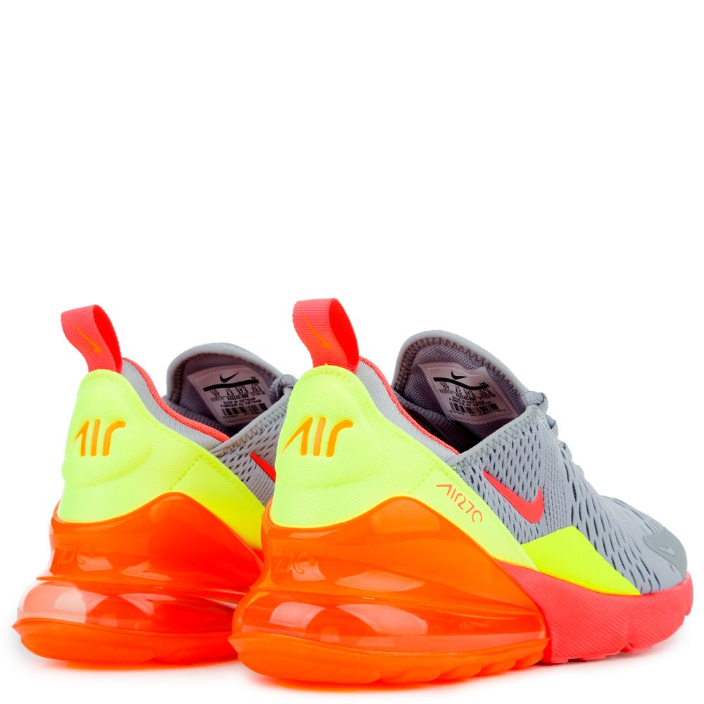 the latest 86094 7f626 NIKE AIR MAX 270 (GS) WOLF GREY HOT PUNCH-TOTAL ORANGE