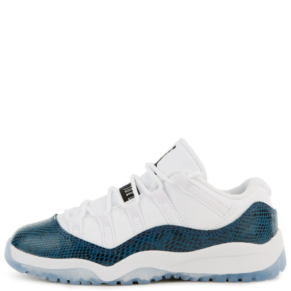 db4e55cfbf1 (PS) AIR JORDAN 11 RETRO LOW WHITE/BLACK-NAVY