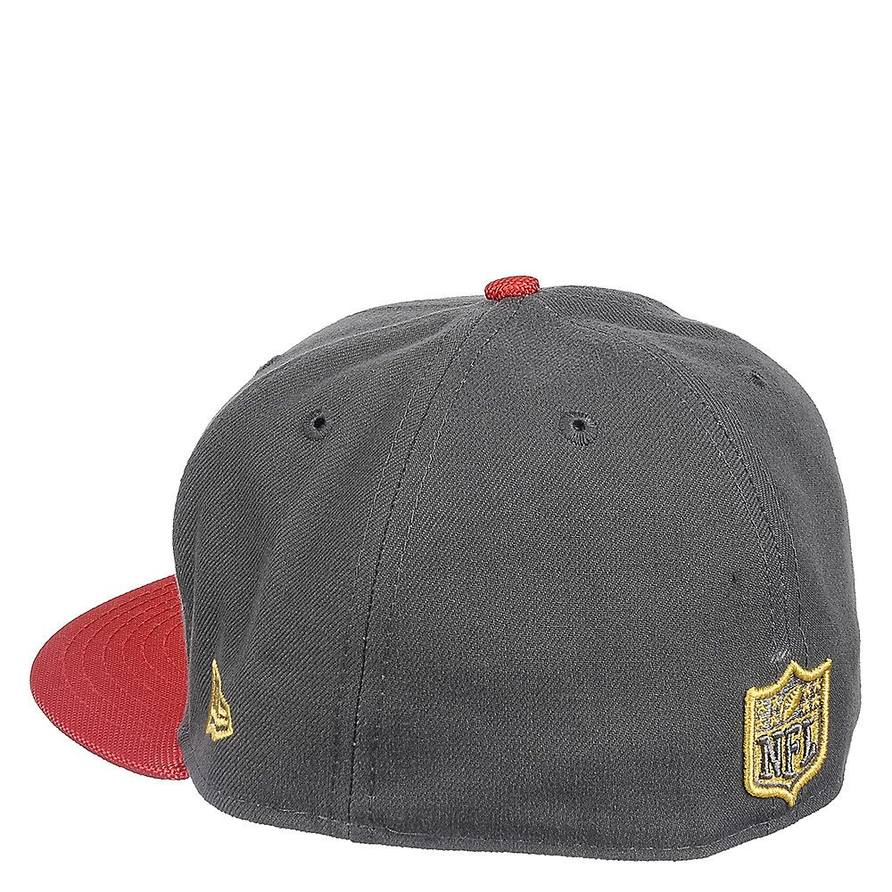 7cd6b01b Tampa Bay Buccaneers Grey Fitted Cap Grey/Red
