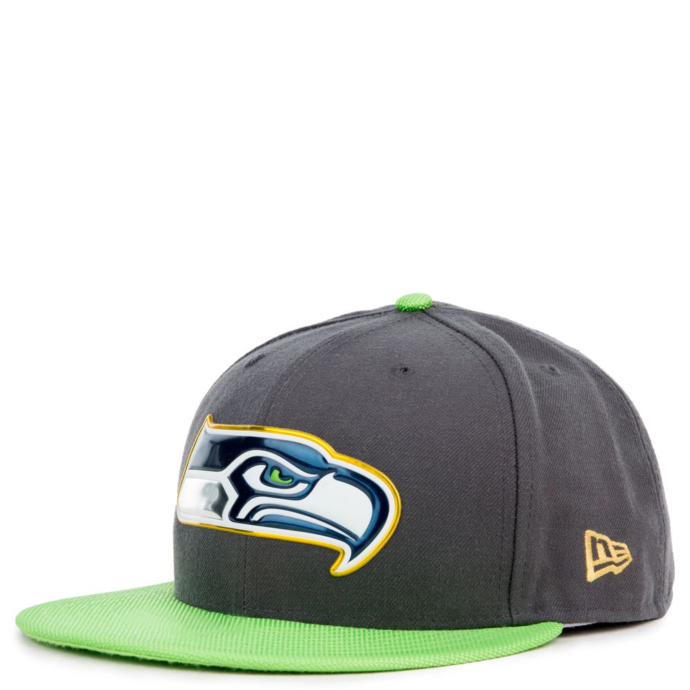 59FIFTY SEATTLE SEAHAWKS FITTED HAT BRIGHT GREEN GRAY a1d825b9f