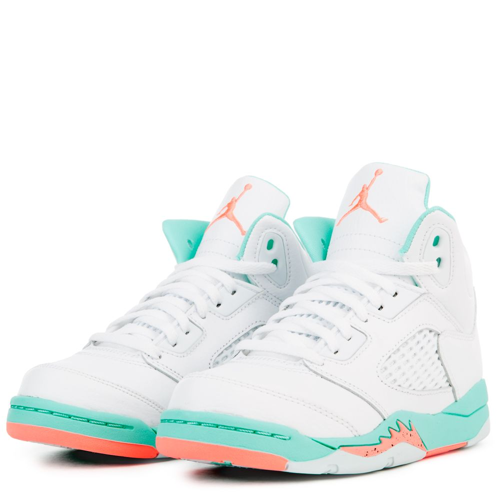 san francisco 3e213 1ddea JORDAN 5 RETRO GP WHITE CRIMSON PULSE-LIGHT AQUA-BLACK