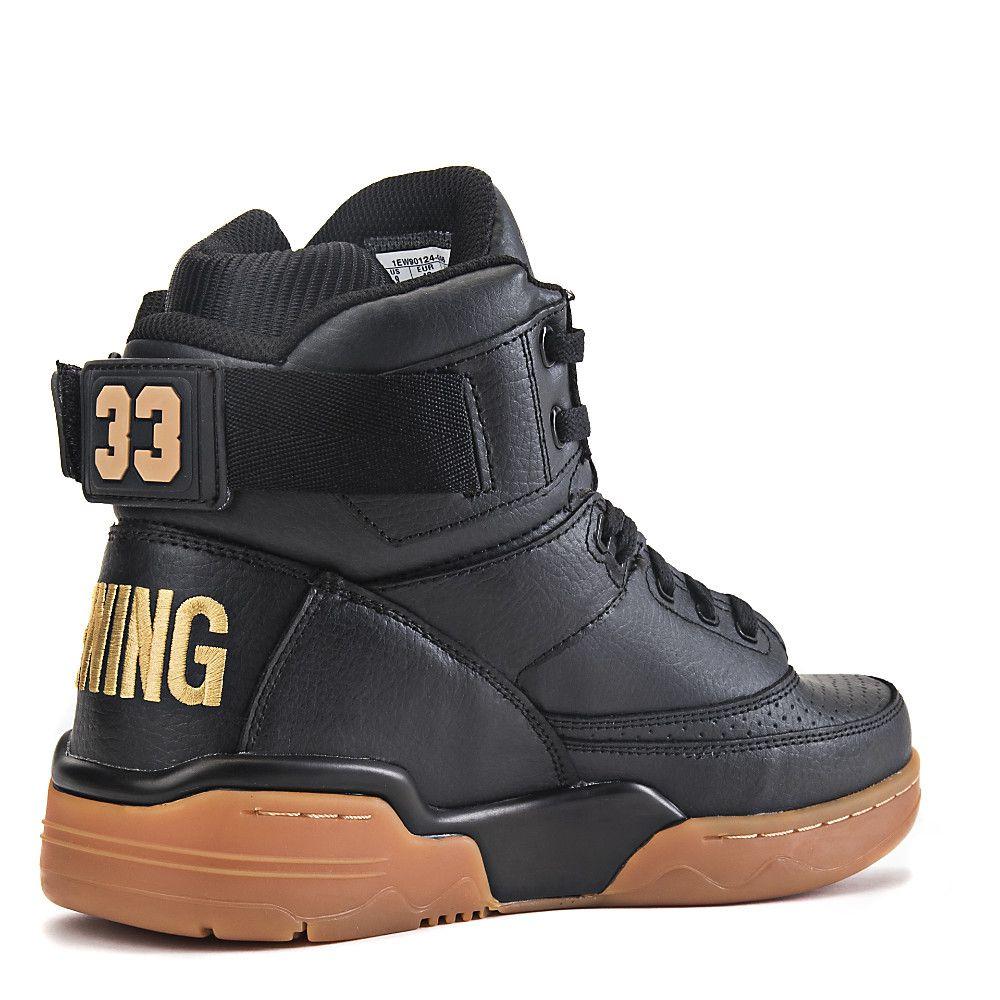 bc728caae1 Patrick Ewing 33 Hi Men s Black Athletic Lifestyle Sneaker