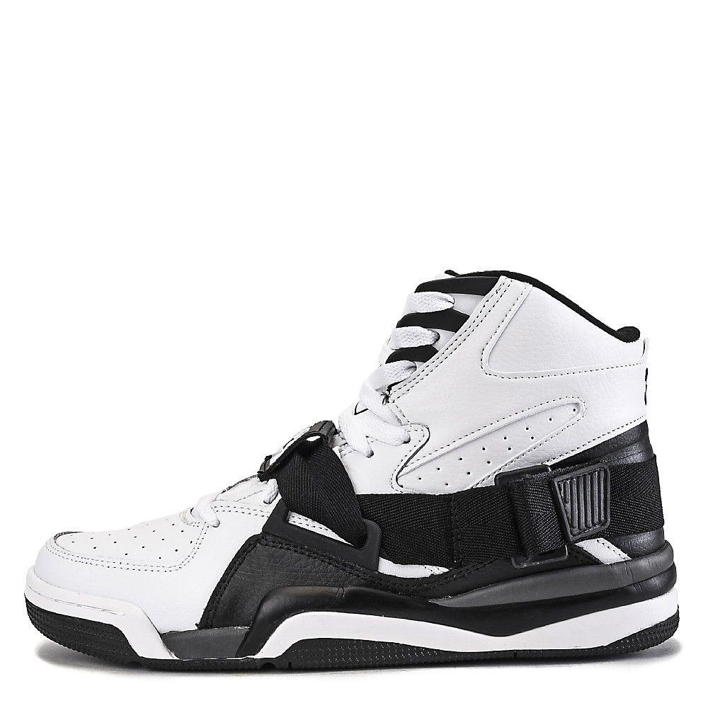 uk availability 78755 8b46a Men s Athletic Basketball Snealer Ewing Concept Hi White Black