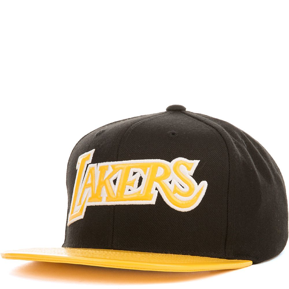 Los Angeles Lakers Snapback Black Yellow b7275089d0a