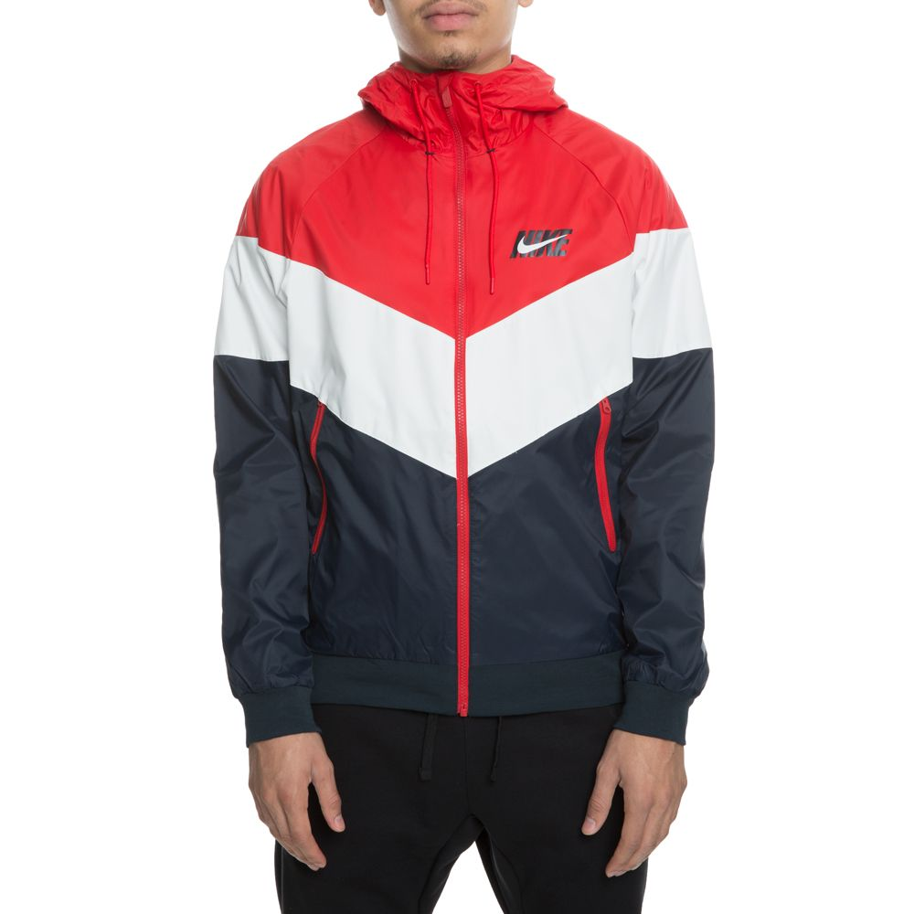 3890767aa Windrunner Jacket UNIVERSITY RED/SUMMIT WHITE