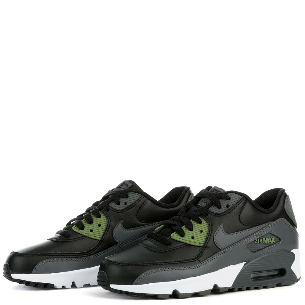 newest collection b74f2 81ff3 Air Max 90 Leather ( BLACK DARK GREY-PALM GREEN-WHITE