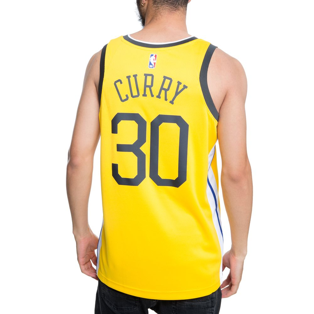 5dd73f7b357 ... GOLDEN STATE WARRIORS NBA CONNECTED STEPHEN CURRY EARNED CITY EDITION  SWINGMAN JERSEY AMARILLO WHITE