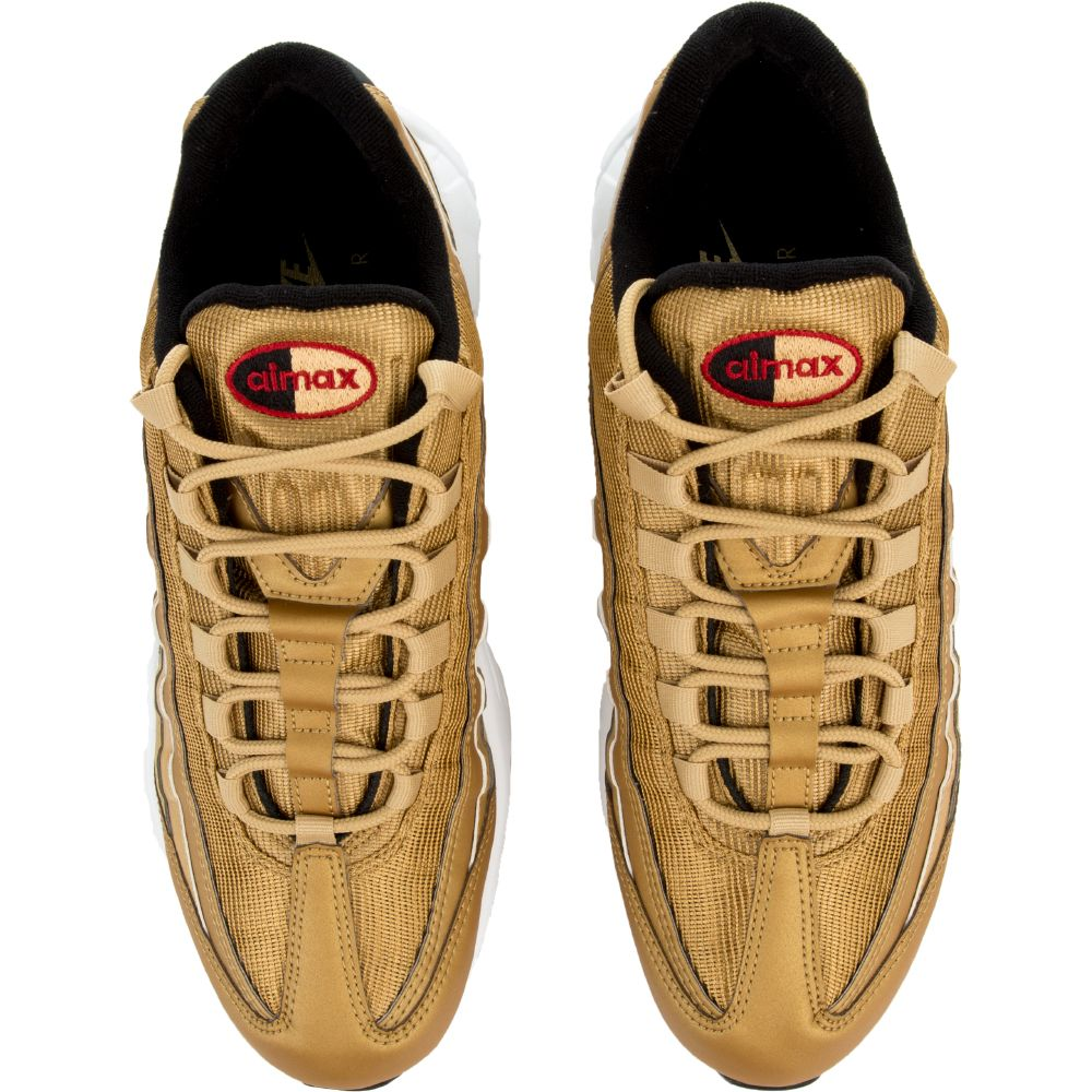 d56908614a AIR MAX 95 PREMIUM QS SHOE METALLIC GOLD/VARSITY RED-BLACK-WHITE