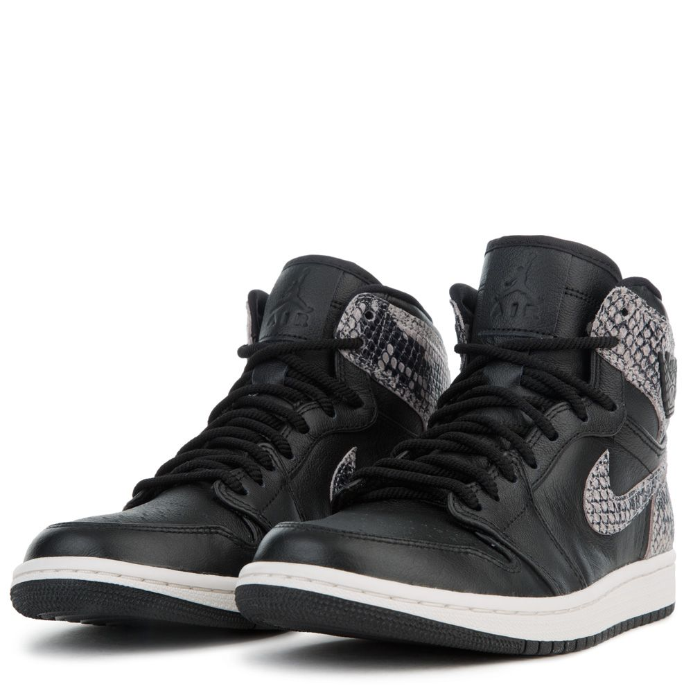 half off 353b3 4e0f4 ... WOMEN S AIR JORDAN 1 RETRO HIGH PREMIUM BLACK PHANTOM ...