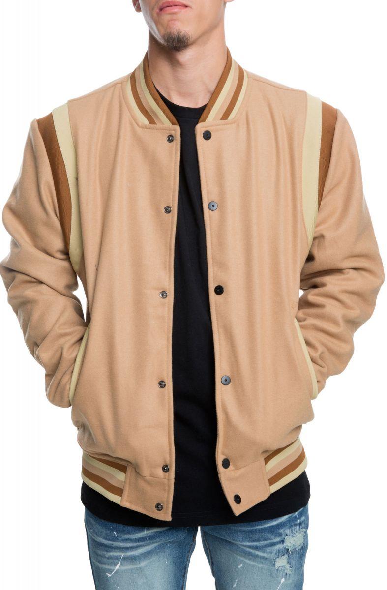 The Westlake Varsity Jacket In Khaki