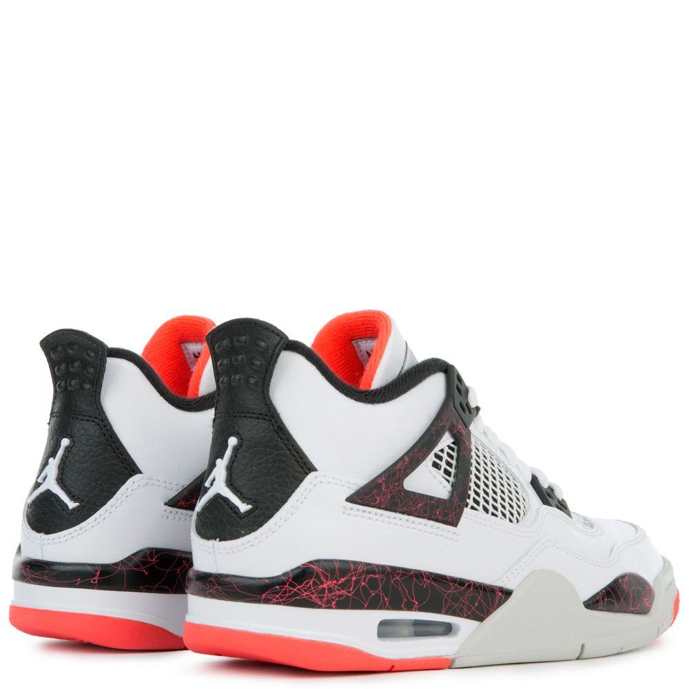 sports shoes ac60e bc8d6 ... JORDAN 4 RETRO WHITE BLACK-BRIGHT CRIMSON-PALE CITRON ...