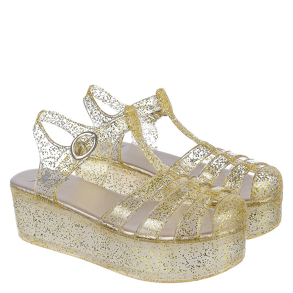 25207a1c85 Women's Disco-01 Platform Jelly Sandal Gold - Women's - Sale