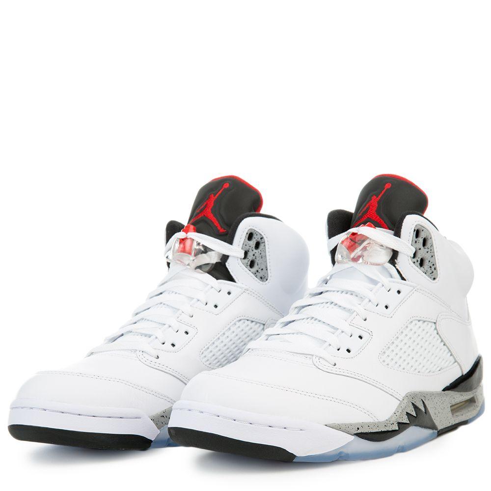 promo code 27268 680aa Air Jordan 5 White Cement WHITE UNIVERSITY RED-BLACK-MATTE SILVER