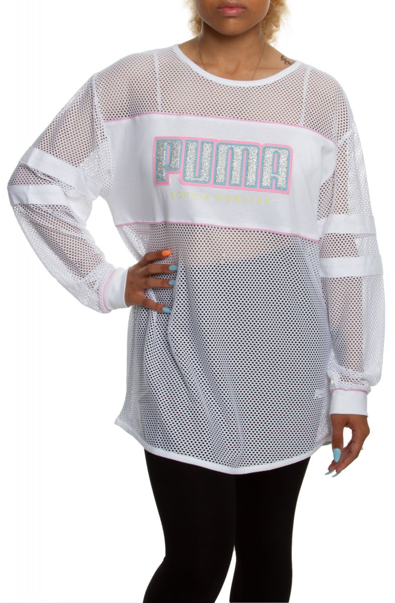X Webster Tee Puma Sophia White Sleeve Long 35q4cLAjR
