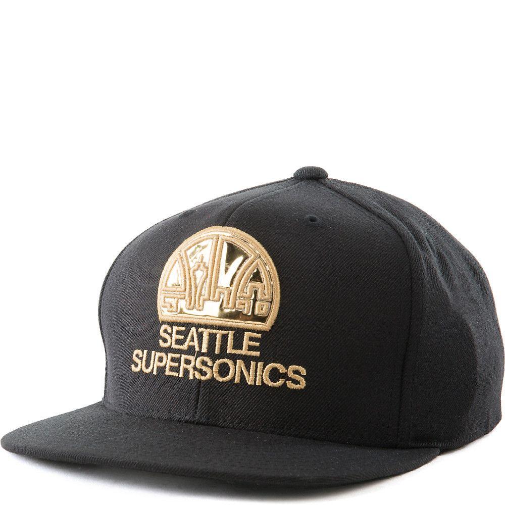 Seattle Supersonics Snapback Black Gold f62e5953902