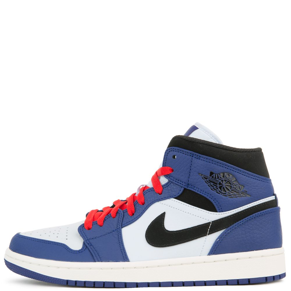 fa97cd9c034045 AIR JORDAN 1 MID SE DEEP ROYAL BLUE BLACK-HALF BLUE
