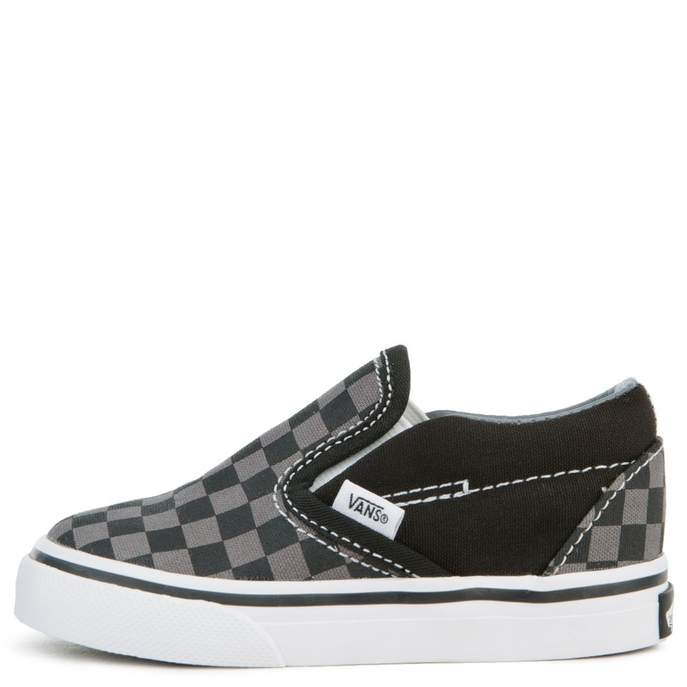 8401a84d0f7627 (TD) CLASSIC SLIP-ON BLACK PEWTER CHECKERBOARD