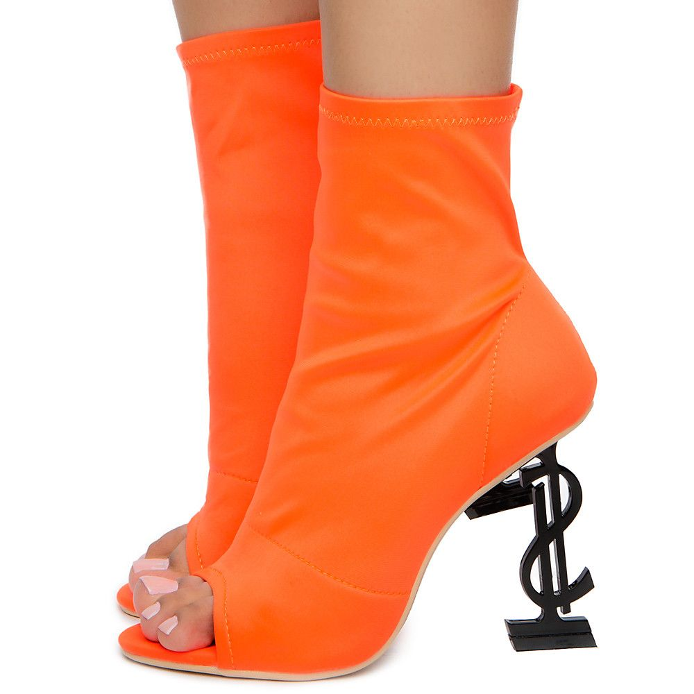 Women's Dollar Sign Heel O/T Orange