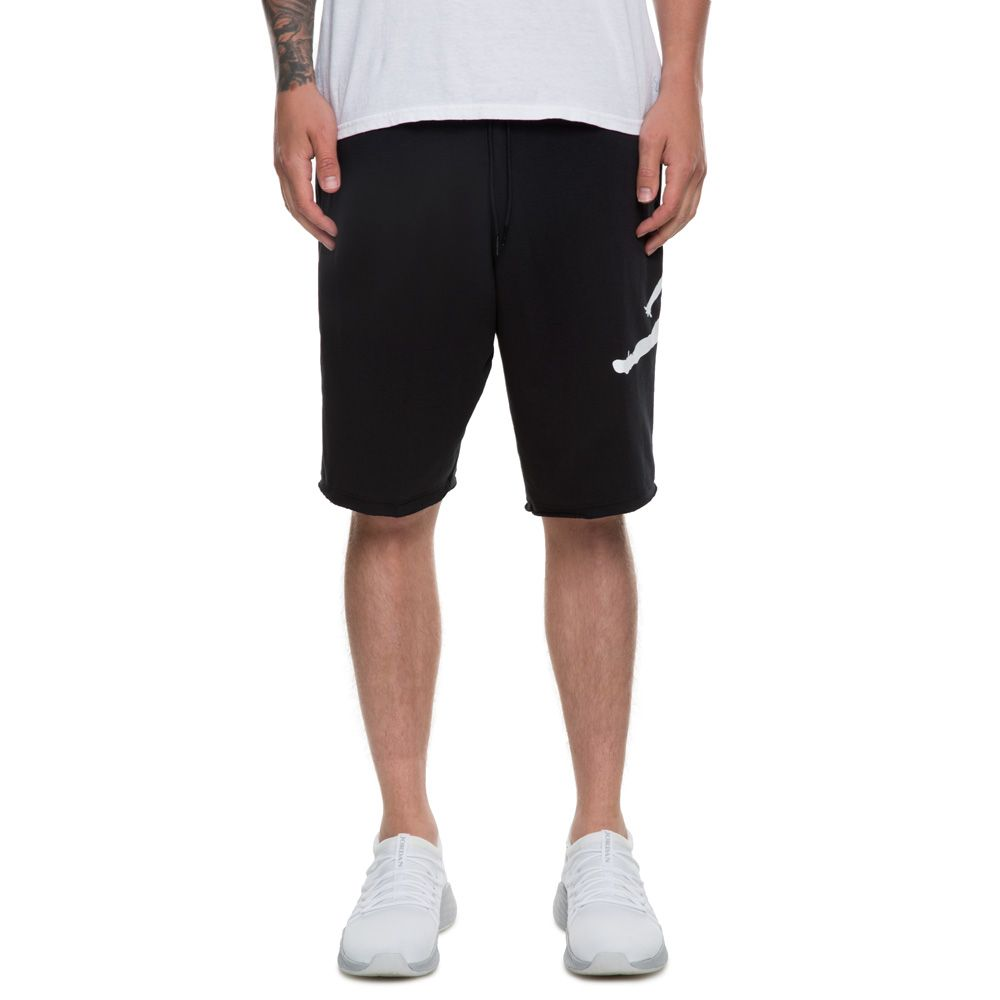 d1e346d8ebde MEN S JORDAN JUMPMAN AIR FLEECE SHORT BLACK WHITE